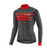 Maillot Giant Rival manches longues noir/rouge