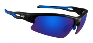 Lunette AZR HUEZ Noir mate/bleue , écran bleue