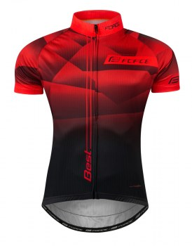 Maillot Cyckiste FORCE BEST Manches courtes 2021 rouge