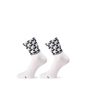 Socquettes Assos Monogram EVO 8 blanches