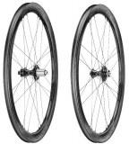 Paire de roues Campagnolo BORA WTO DISC 45mm 2 WAY FIT dark label à pneus