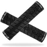Poignées Grip LIZARD SKIN LOGO double lock noir
