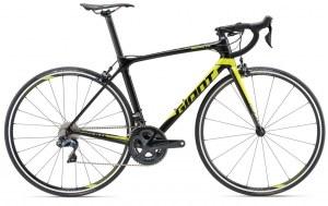 Vélo Giant TCR Advanced 0 2018 (Ultégra DI2) noir/jaune