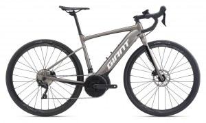 Vélo GIANT ROAD E + 2PRO CS 2020 Gris/noir (+OFFRE Magasin)
