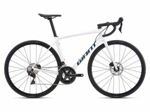 Vélo GIANT TCR Advanced 2 DISC PRO 2021 compact blanc (kit matériel offert )